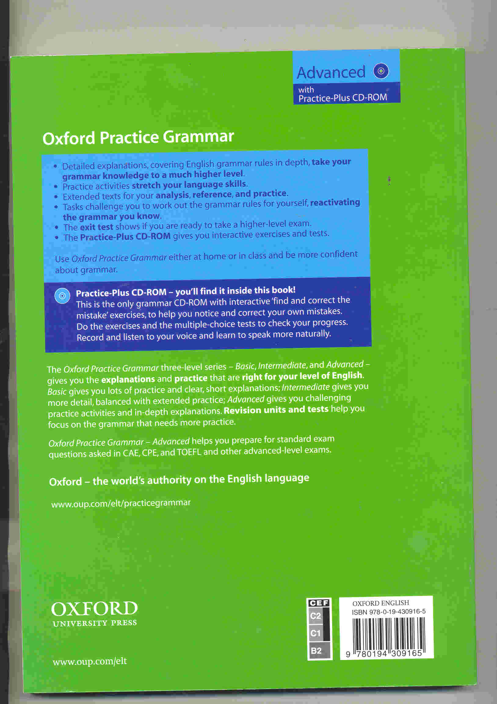 Holdings: Oxford practice grammar with answers