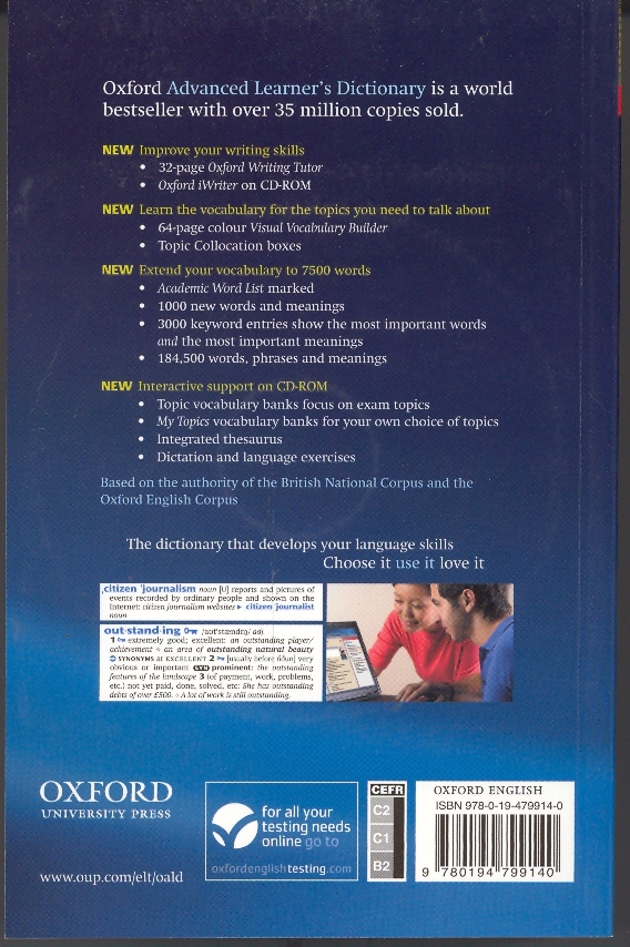 Description: Oxford advanced learner's dictionary of current