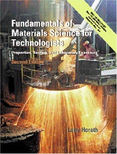 Holdings: Fundamentals of Materials Science for Technologist